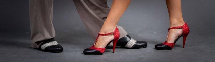 tango dance shoe on