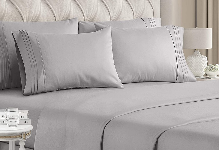 grey luxury linen bed sheets