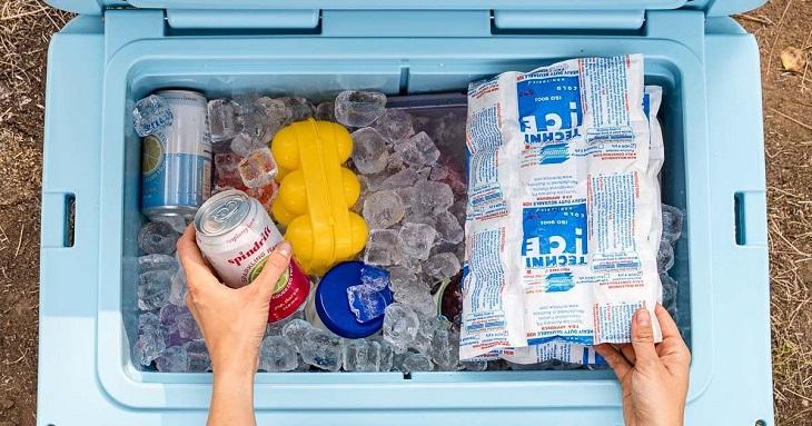 camping cooler prepared