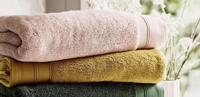 set of bath towels